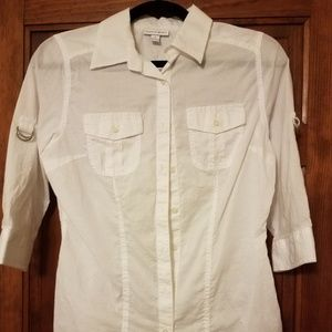 Fashion Bug White Button-Down